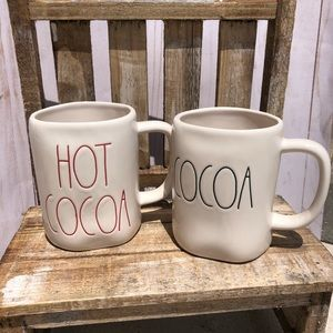 Rae Dunn Hot Cocoa and Cocoa mugs